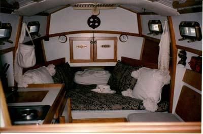 V-Berth of s/y Baby Grand